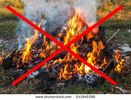 Interdiction de bruler des déchets verts